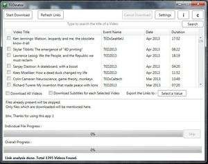 Miscellaneous Utilties - Screenshot for TED Talks Downloader