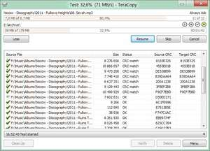 File Organizers - Screenshot for TeraCopy