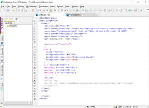 The Free HTML Editor Screenshot