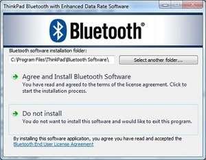 ThinkPad Bluetooth Software Screenshot