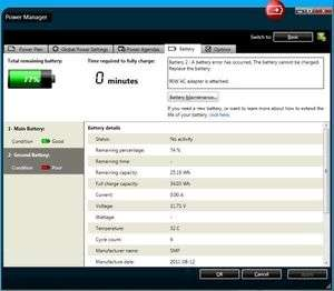 ThinkPad Power Manager Screenshot