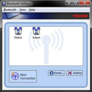 Bluetooth Programs - Screenshot for Toshiba Bluetooth Monitor