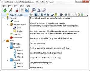 Tree Notes Screenshot