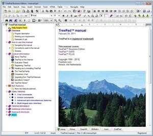 TreePad Business Edition Screenshot