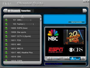 Internet TV Players - Screenshot for TVUPlayer