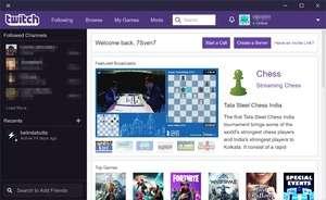 Twitch Desktop App Screenshot