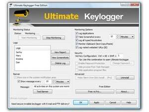 Ultimate Keylogger (Free Edition) Screenshot