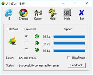 Internet Browser - Screenshot for UltraSurf
