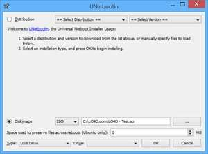 UNetbootin Screenshot