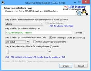 System Utility - Screenshot for Universal USB Installer