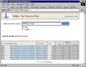 File Search - Screenshot for Urfin - File Search Engine for LAN