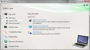 VAIO Care Screenshot