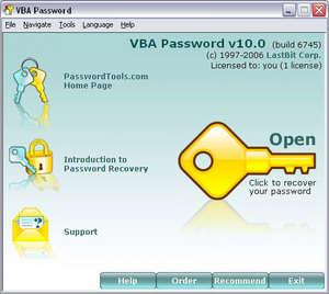 VBA Password Screenshot