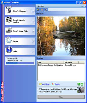 CD Burning - Screenshot for Video DVD Maker Free