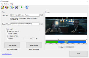 Audio Video Splitters - Screenshot for VidSplitter