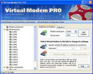 Virtual Modem PRO Screenshot