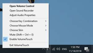 Windows Explorer Addons - Screenshot for VolumeTouch