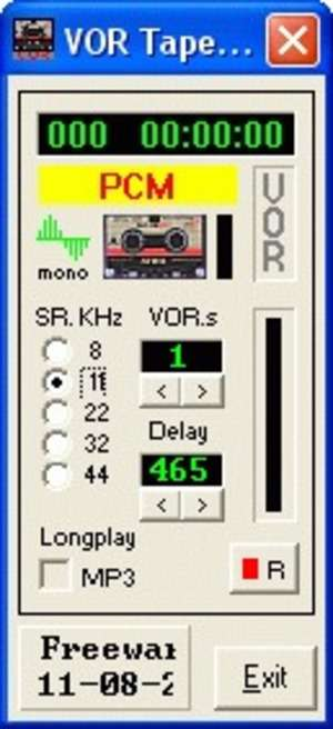 Audio Recorders - Screenshot for VOR Tape