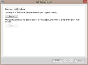 WD Backup Screenshot