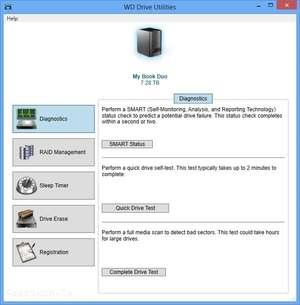 WD Drive Utilities Screenshot