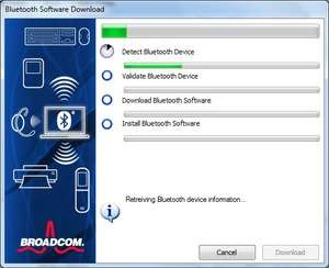 Drivers - Screenshot for WIDCOMM Bluetooth Software