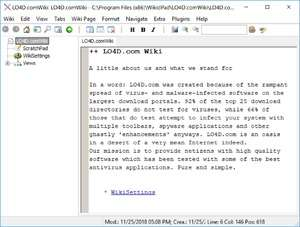wikidPad Screenshot