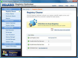 WinASO Registry Optimizer Screenshot