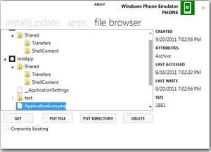 Windows Phone Power Tools Screenshot