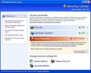 Windows XP SP 3 Screenshot