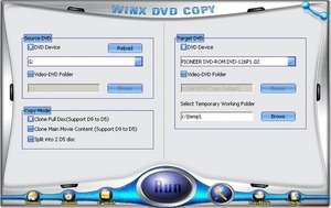 WinX DVD Copy Screenshot