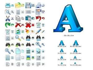 Word Icon Library Screenshot