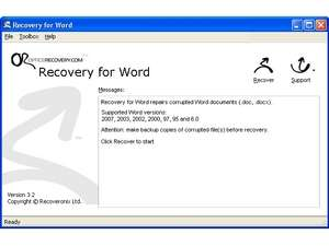 WordRecovery Screenshot