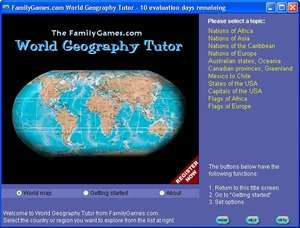 World Geography Tutor Screenshot