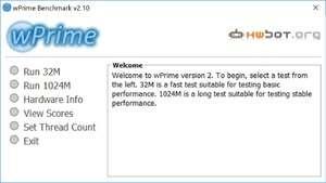 Benchmark Programs - Screenshot for wPrime