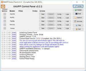 Servers for Windows - Screenshot for XAMPP