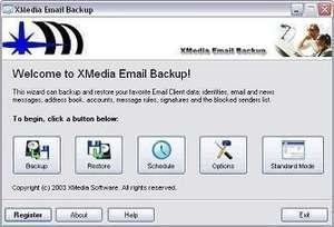 XMedia EMail Backup Screenshot