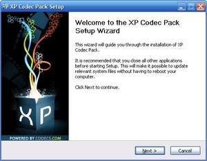 Video Codecs - Screenshot for XP Codec Pack