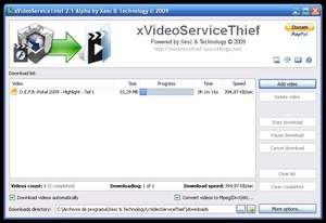 Media Converters - Screenshot for xVideoServiceThief