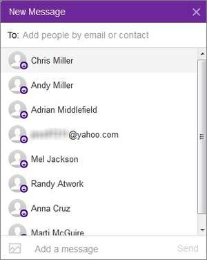 New Yahoo Messenger Screenshot