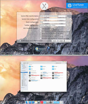 Yosemite Transformation Pack Screenshot