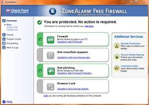 Firewalls - Screenshot for Zone Alarm Free