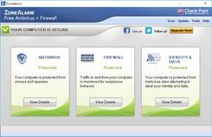 ZoneAlarm Free Antivirus + Firewall Screenshot