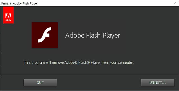 Flash player uninstaller скачать о