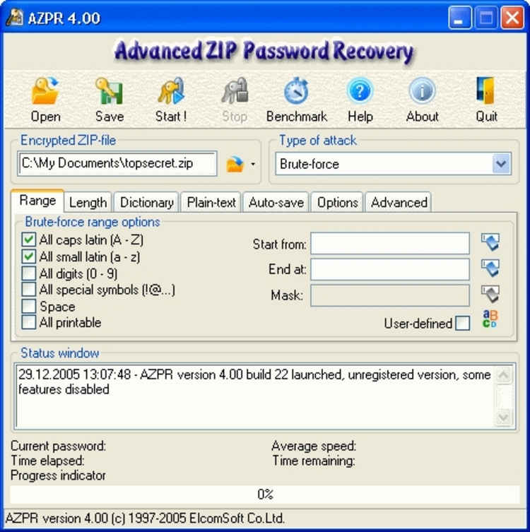 Advanced Rar Password Recovery 1.53. Программа для взлома паролей к