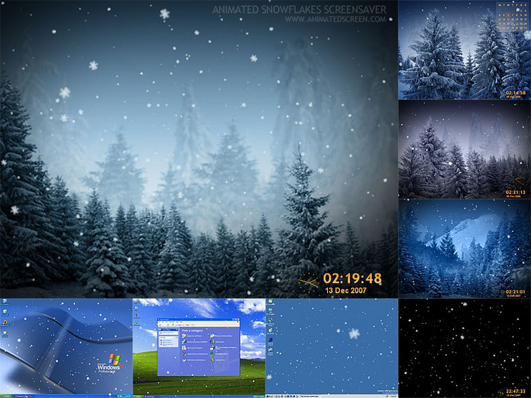 Download Animated SnowFlakes Screensaver 298