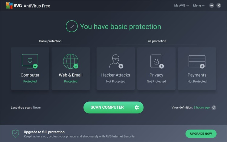 AVG AntiVirus Screenshot