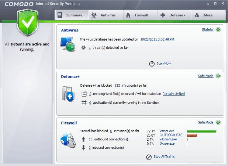 COMODO Internet Security (64 bit) screenshot