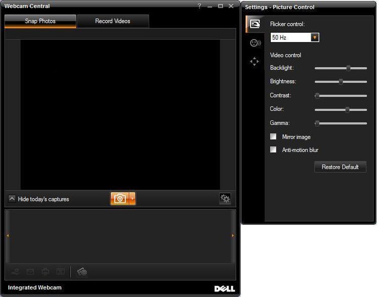 Скачать программу dell webcam