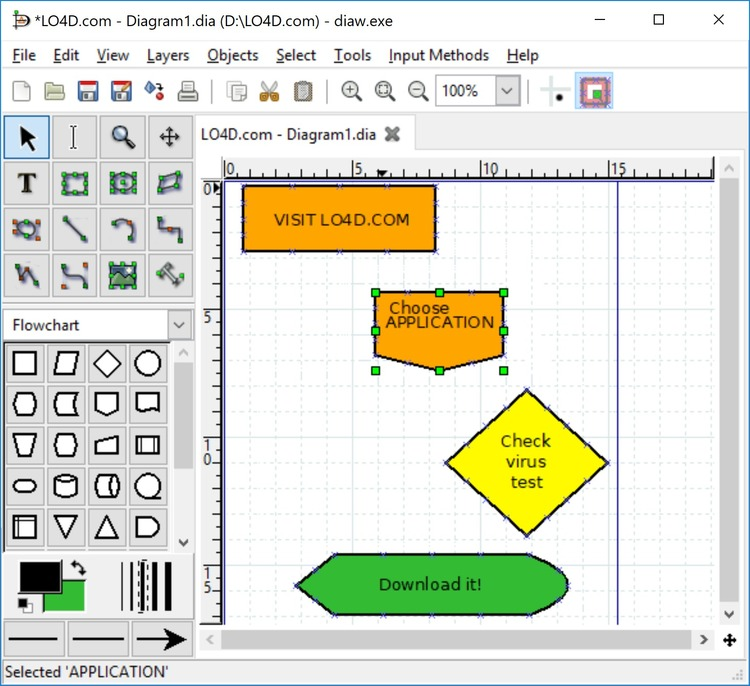 Download dia diagram editor x64 x32 Free open source flowchart software