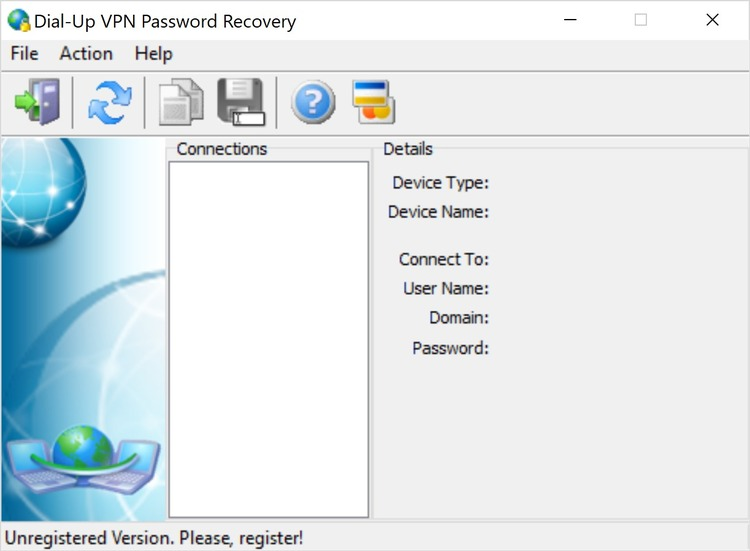 Dial-Up VPN Password Recovery разработана для коммутируемого доступа, VPN (